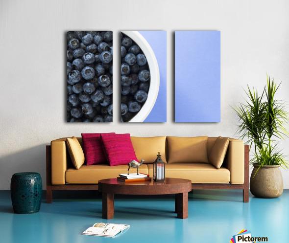 Bowl Of Blueberries Split Canvas print