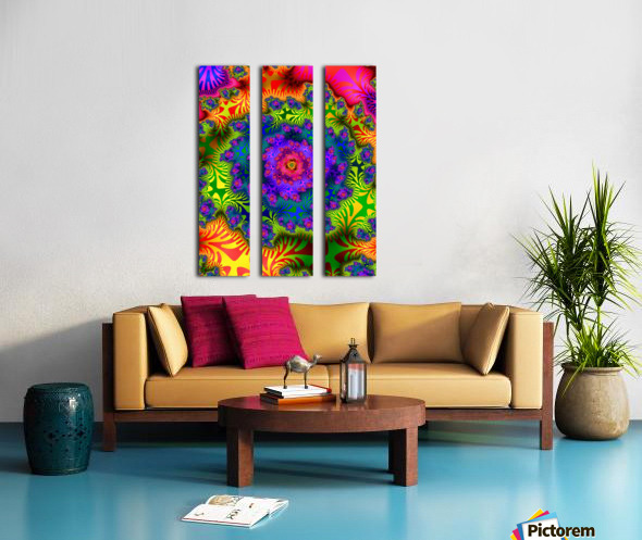 Vivid Abstract Image Split Canvas print