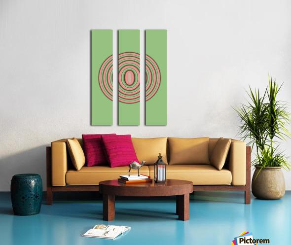 Concentric Circles Split Canvas print