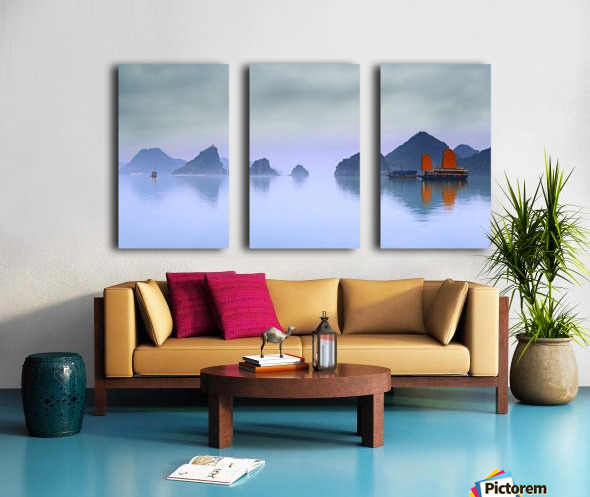 Halong Bay, Vietnam Split Canvas print