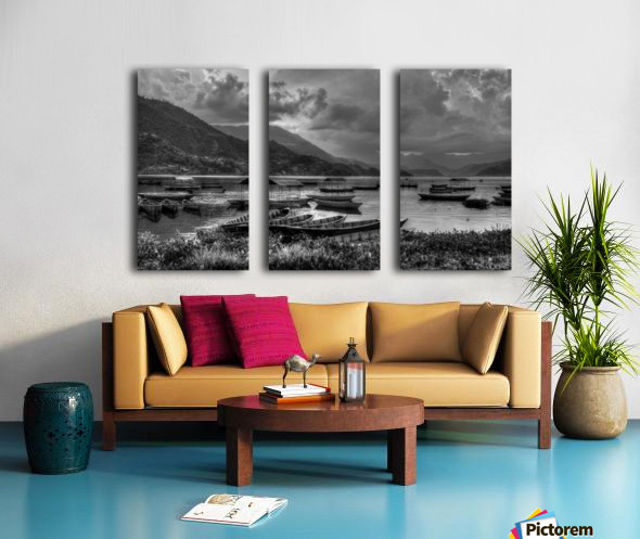 Monochrome Madness - Fewa Lake Split Canvas print