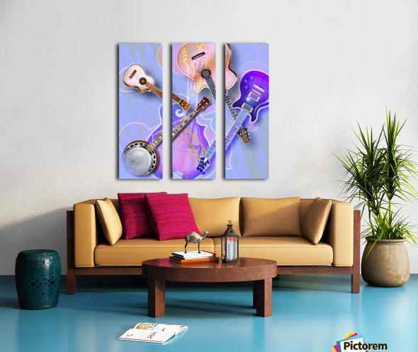 Stringed Instruments Split Canvas print