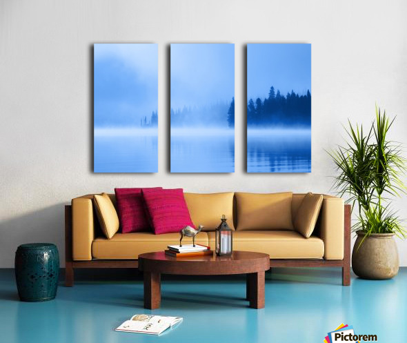 Foggy Lake Split Canvas print