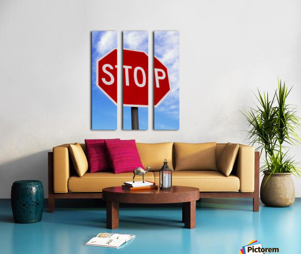 Stop Sign; Ireland Split Canvas print