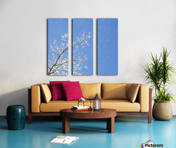 Snowy Day Split Canvas print