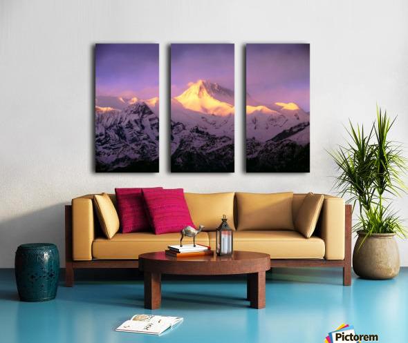 Annapurna South At Sunrise, Nepal Split Canvas print