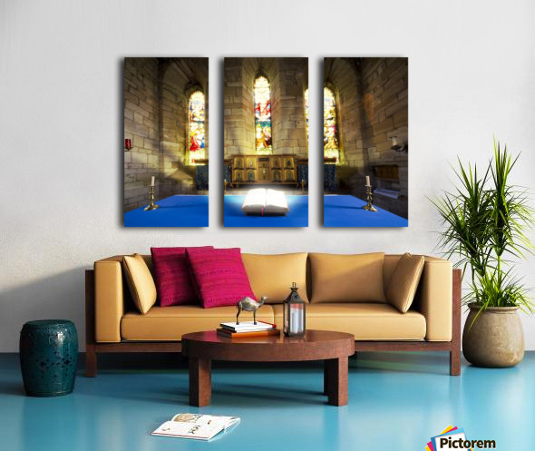 Bible In Church Split Canvas print