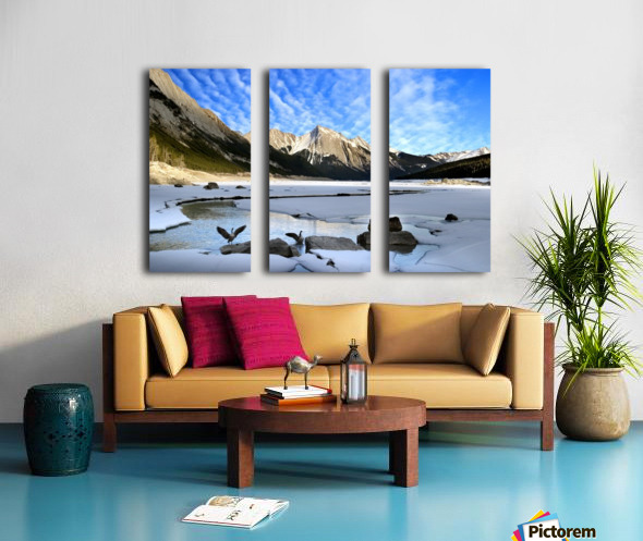 Medicine Lake, Jasper National Park, Alberta, Canada Split Canvas print