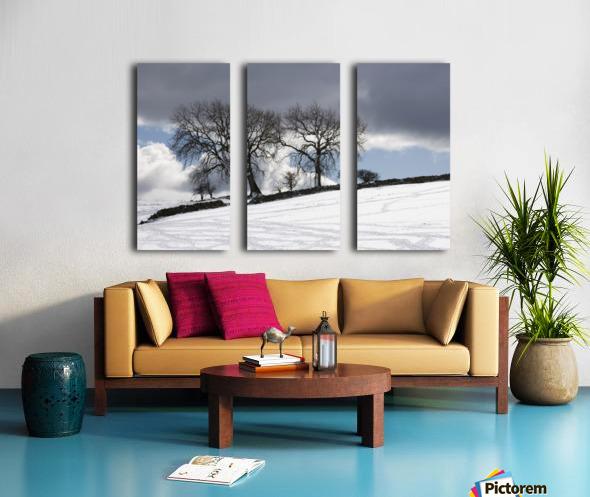 Snowy Field, Weardale, County Durham, England Split Canvas print