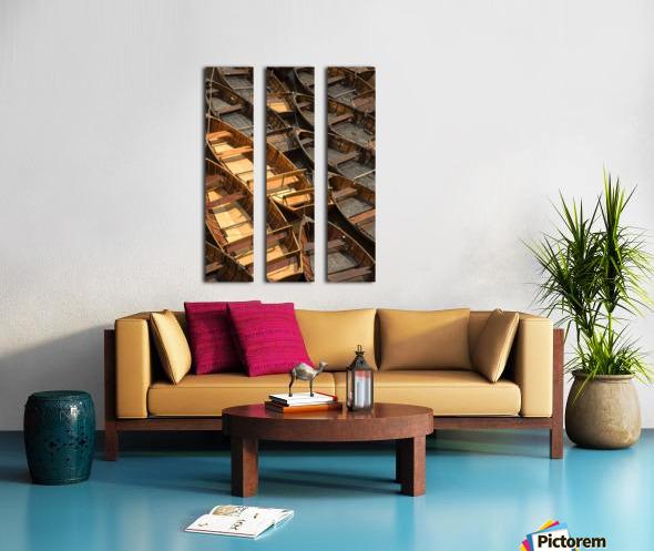 Wooden Boats Split Canvas print