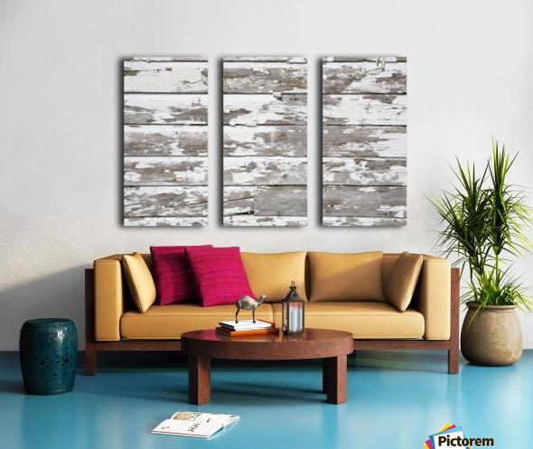 Paint Peeling Off Wood Split Canvas print
