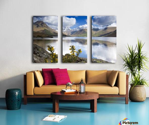 Mountains And Lake, Lake District, Cumbria, England, United Kingdom Split Canvas print