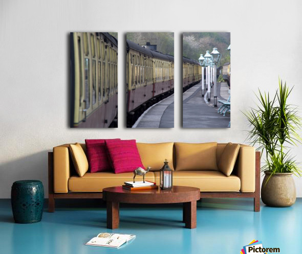 Train Station, Grosmont, North Yorkshire, England Split Canvas print