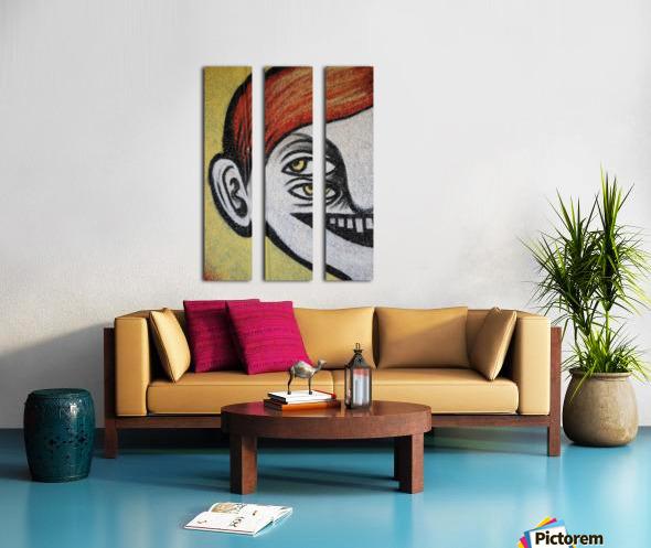 Half face Split Canvas print