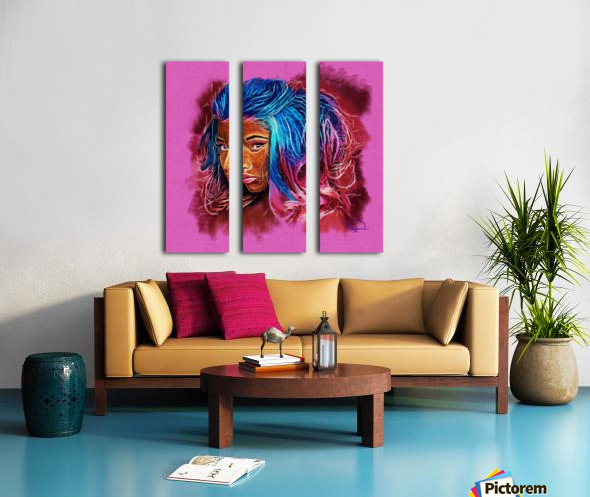 Nicki Minaj Abstracto Split Canvas print