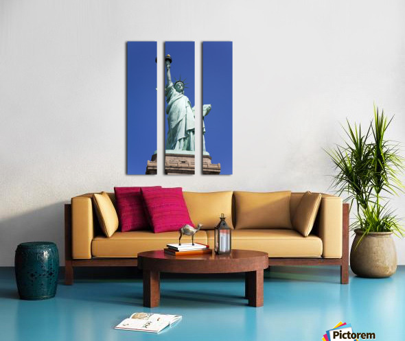 Statue Of Liberty, Lower Manhattan, New York City, New York, Usa Split Canvas print
