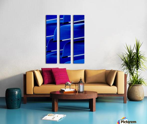 Blue Canoes Split Canvas print