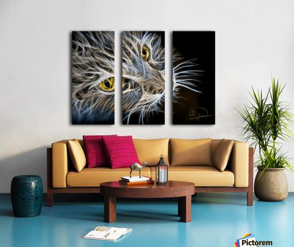 Cat Abstracto Split Canvas print