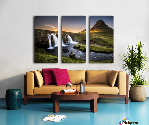 Fairy-Tale Countryside in Iceland Split Canvas print