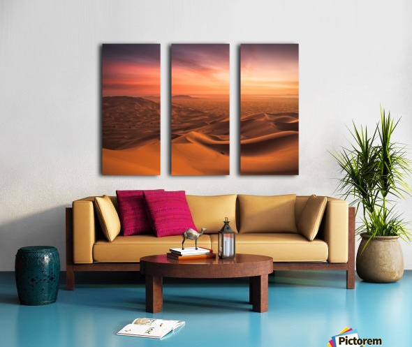 Sunset in the Desert Split Canvas print