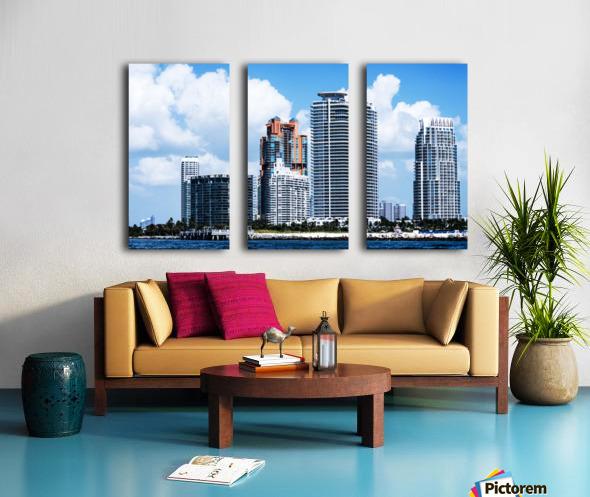 SOFI South of Fifth Miami Split Canvas print