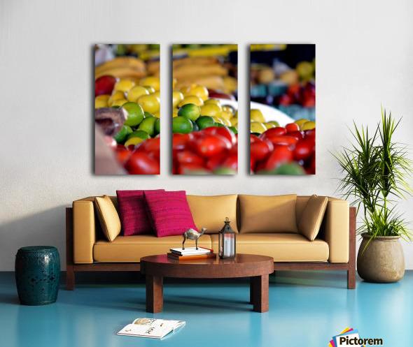 Farmers Market Split Canvas print