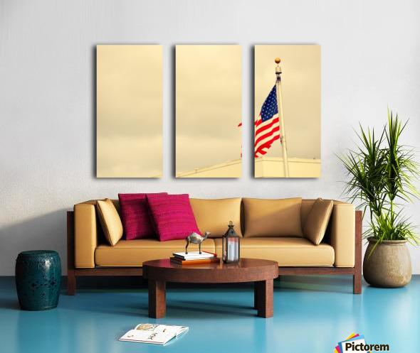 American Flag Split Canvas print