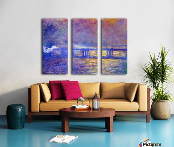 Charing cross bridge by Monet Split Canvas print