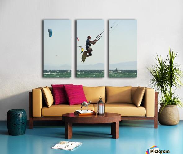 Kitesurfing; Tarifa, Cadiz, Andalusia, Spain Split Canvas print