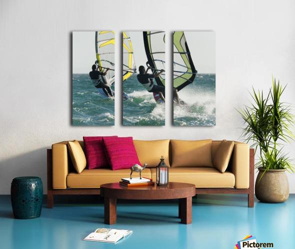 Windsurfing; Tarifa, Cadiz, Andalusia, Spain Split Canvas print