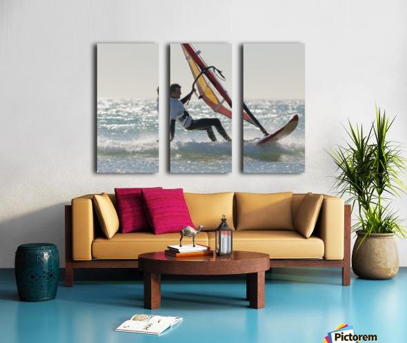 Windsurfing; Los Lances Beach Tarifa Spain Split Canvas print