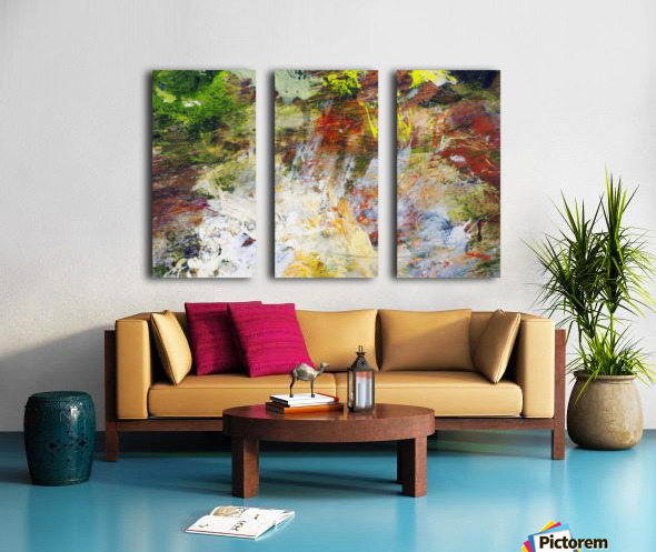 Abstract Oil Painting On Canvas Split Canvas print