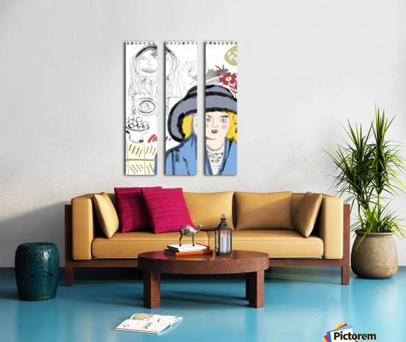 BIG HAT Split Canvas print