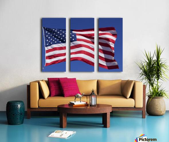 American Flag; Pahreah, Utah, United States of America Split Canvas print