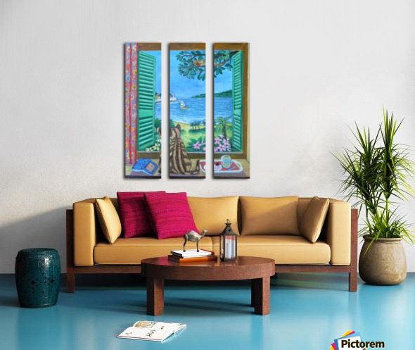 view from a window Split Canvas print