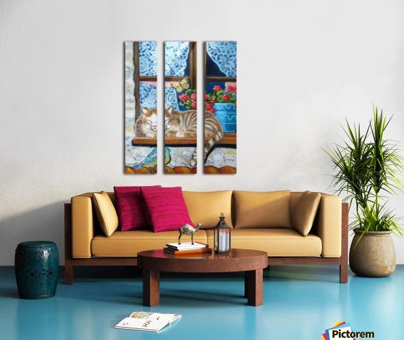 catnap Split Canvas print