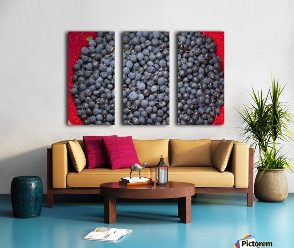 A bowl of blueberries;Alaska united states of america Split Canvas print