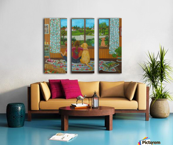 looking out the window Split Canvas print