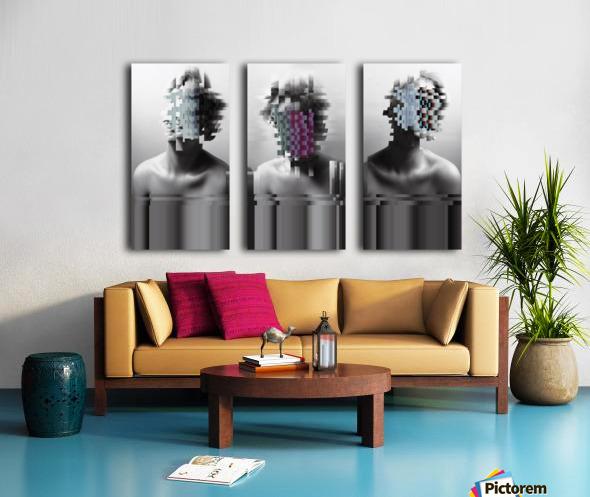 Glitch Serie Split Canvas print