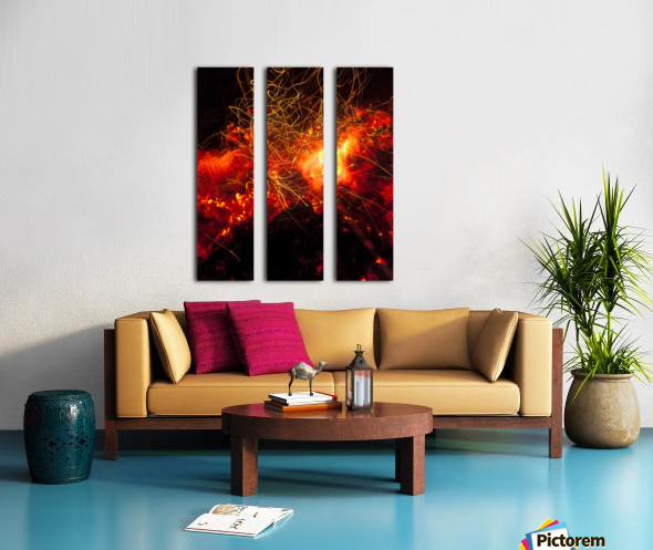 Fire Dance Split Canvas print