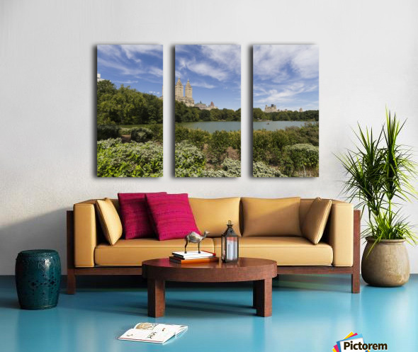 The Lake in Central Park, New York City, New York, United States Split Canvas print