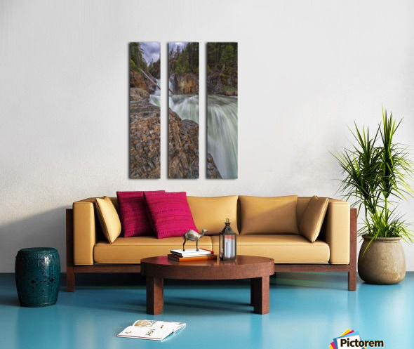 Myra Falls, Strathcona Provincial park; British Columbia, Canada Split Canvas print