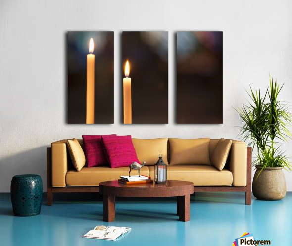 Burning candles; Northumberland, England Split Canvas print