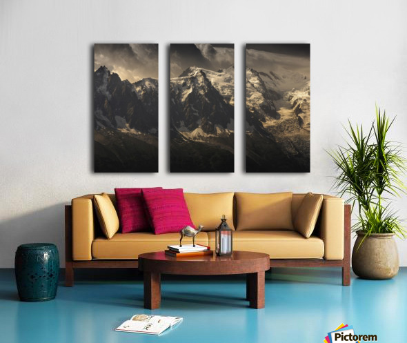Aiguille du Midi and Mont Blanc, French Alps Split Canvas print