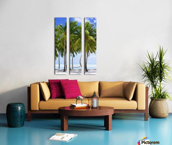 Aitutaki Lagoon Resort, Aitutaki, Cook Islands Split Canvas print