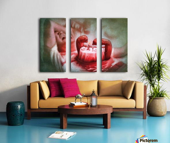 Date Split Canvas print
