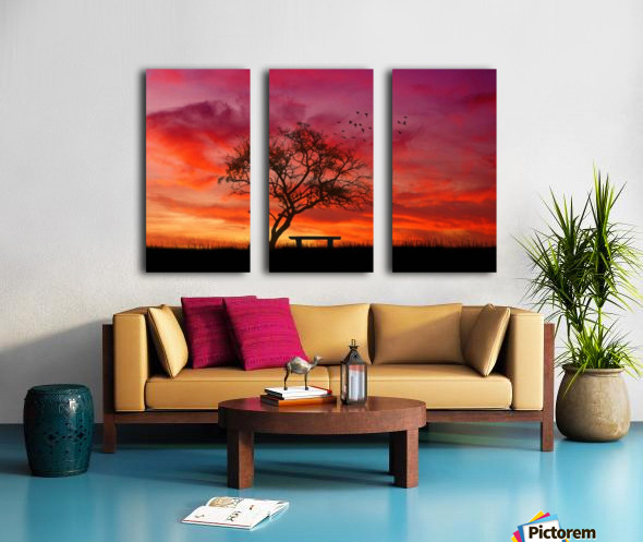 lonely sunset Split Canvas print