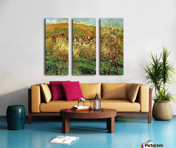 Flowering apple trees by Monet Split Canvas print