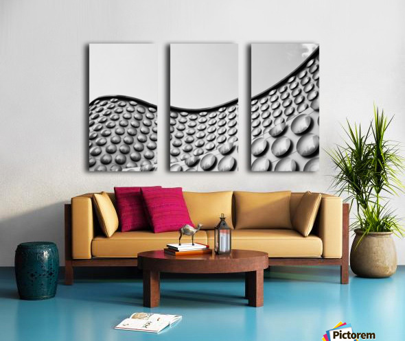 Facade of wall with curve and circle pattern; Las Vegas, Nevada, United States of America Split Canvas print