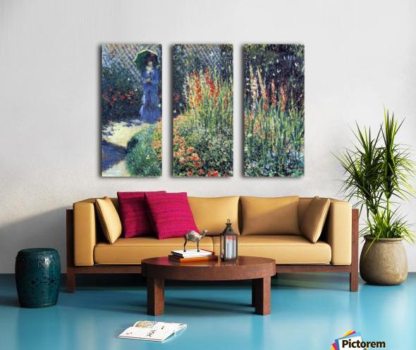 Gladiolas by Monet Split Canvas print